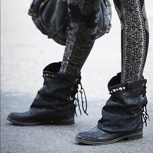 Free People Wayland Slouch Booties Boots 38